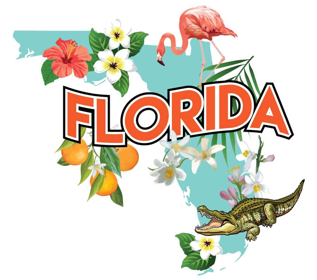 """Tourist"" Florida Sticker"