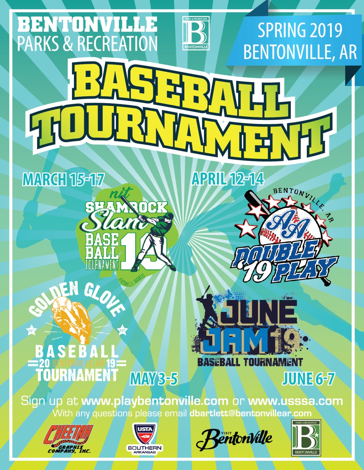 City of Bentonville- Spring Baseball TournamentFlyer