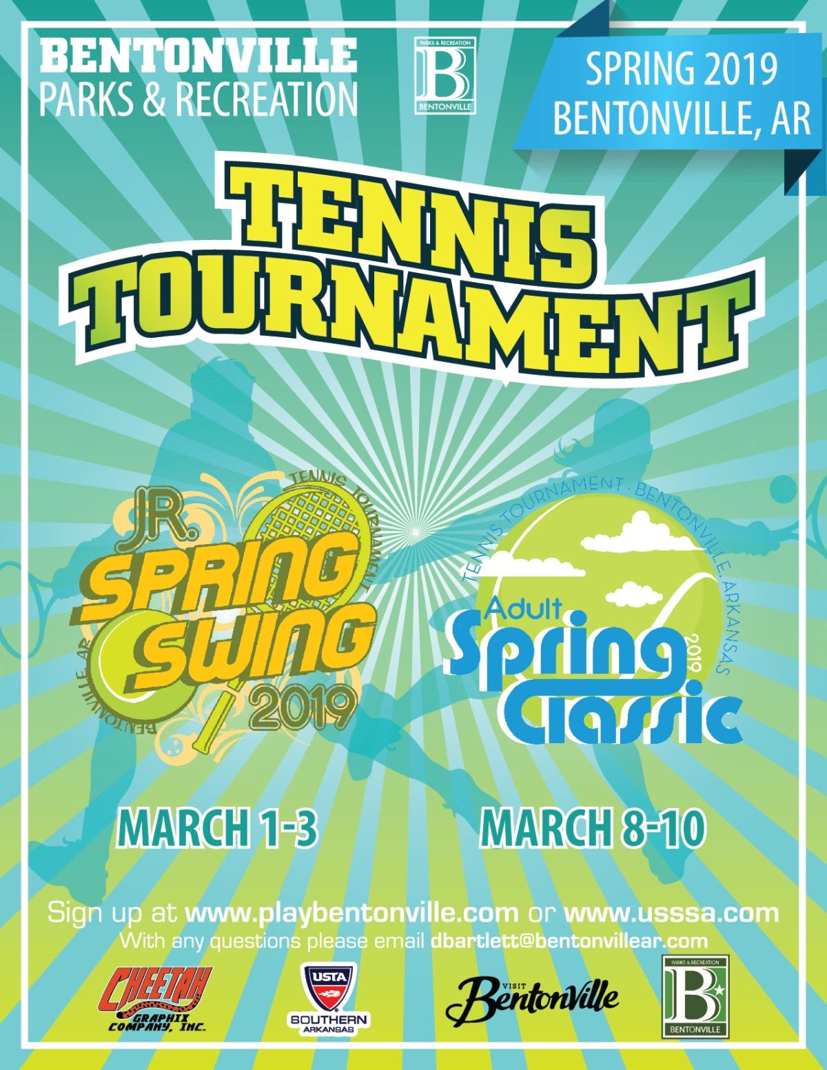 City of Bentonville- Spring Tennis TournamentFlyer