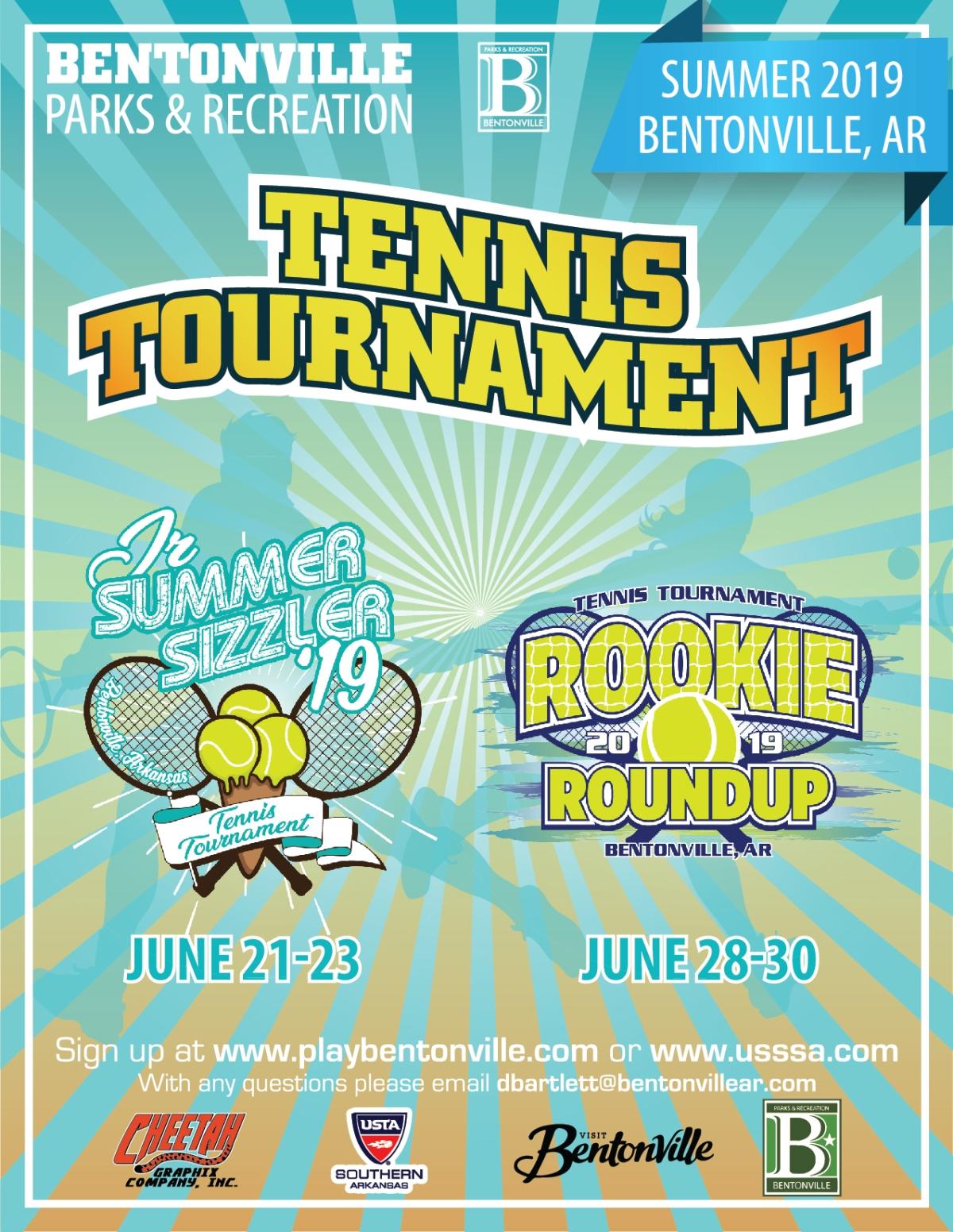 City of Bentonville- Summer Tennis TournamentFlyer