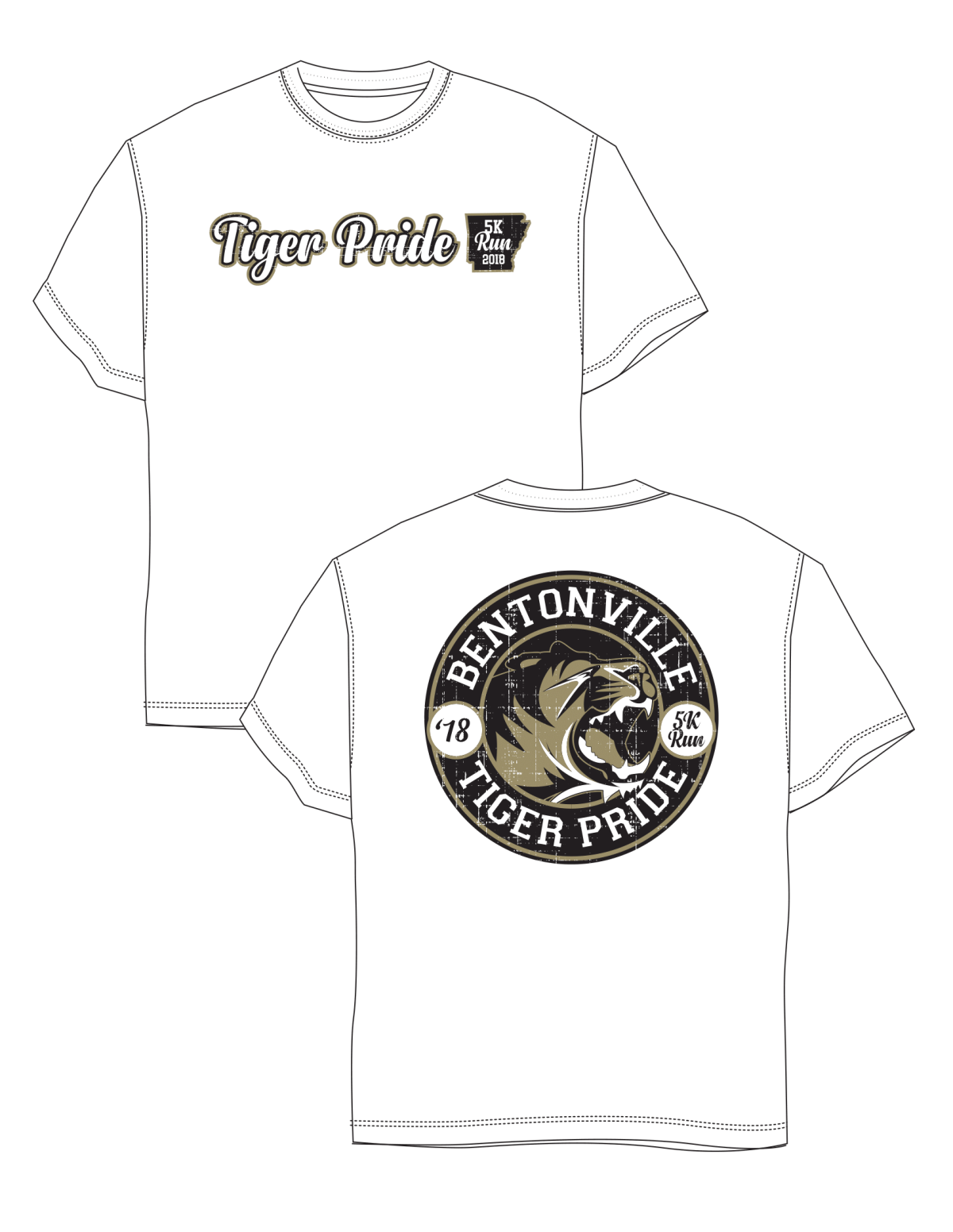 Bentonville High School- 2018 5K Run Shirts