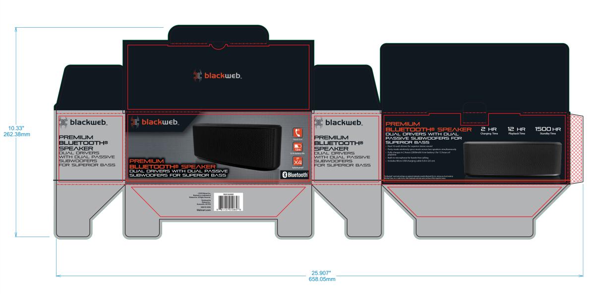 Blackweb- Premium BluetoothSpeaker