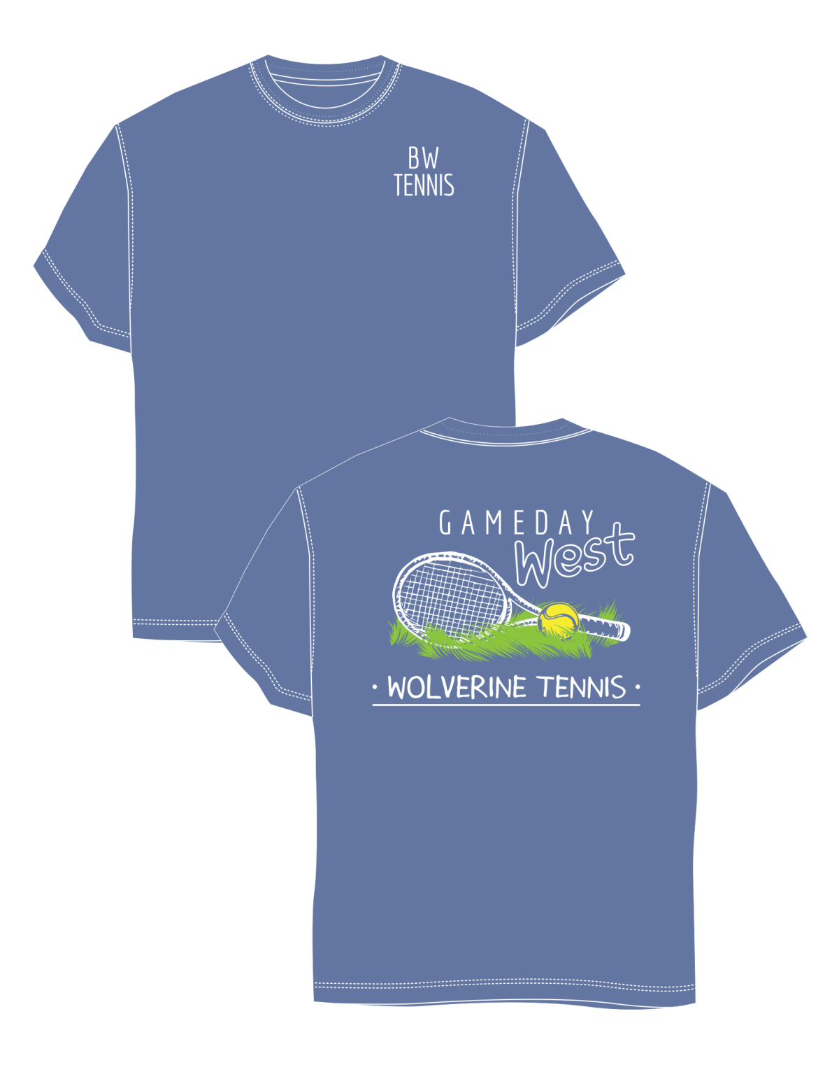 Bentonville West High School- Tennis GamedayShirts