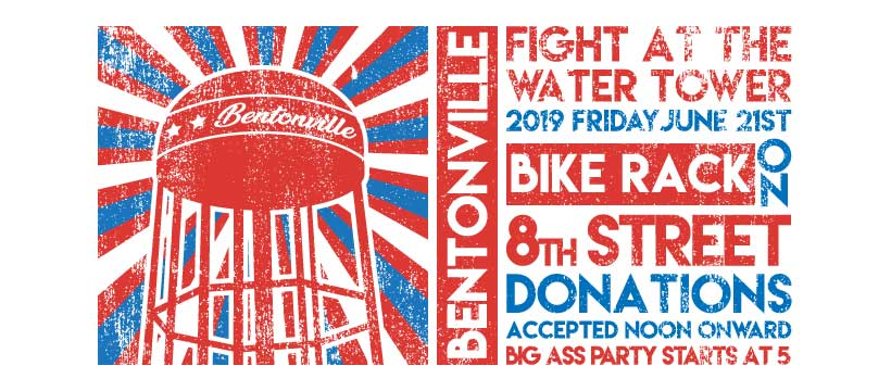 """City of Bentonville"" (satirical site)- Fight at the Water Tower 2019 Facebook Banner"