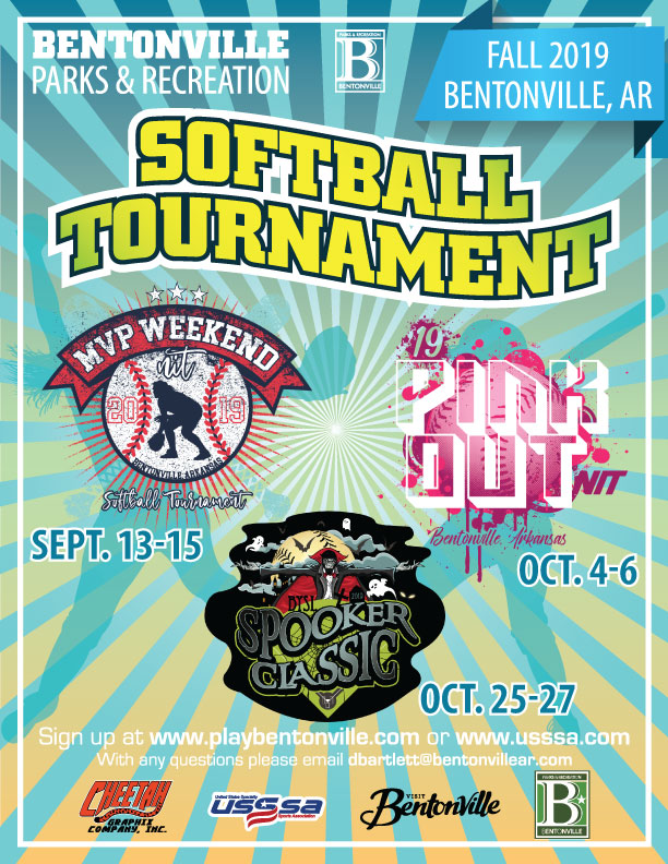 City of Bentonville- Softball Tournament Flyer- Fall 2019
