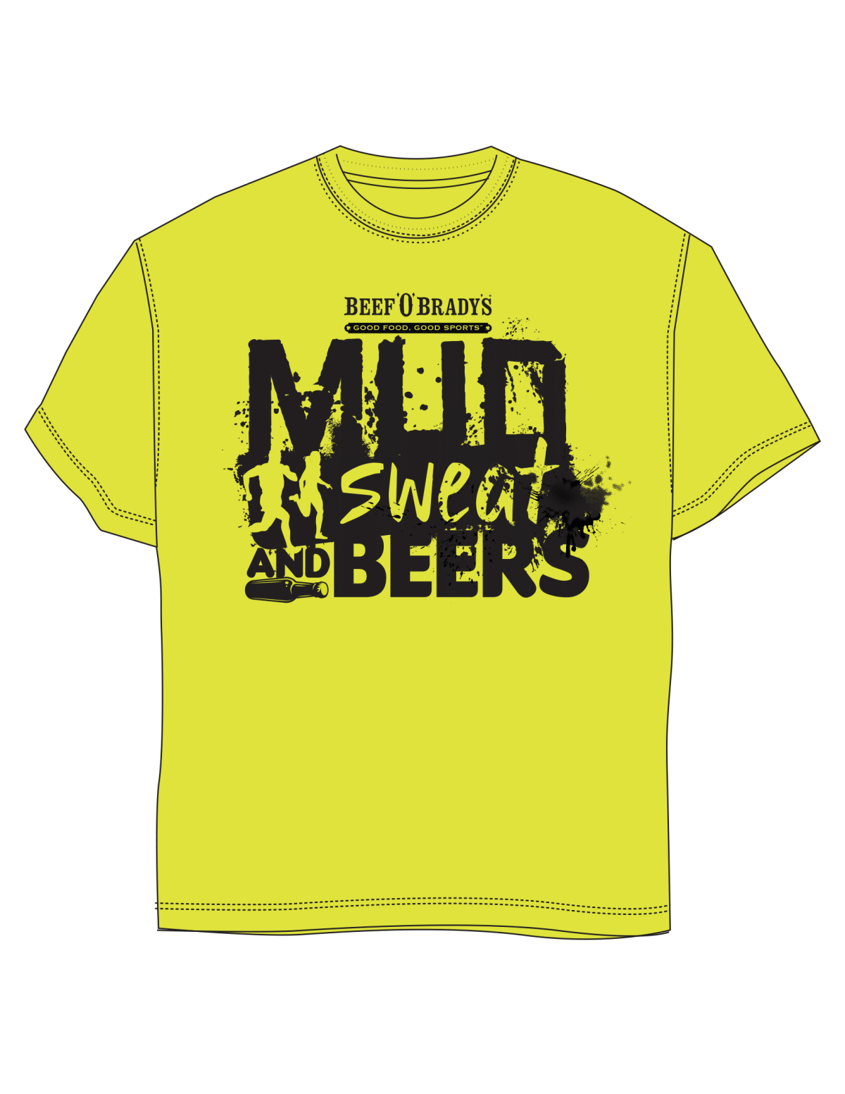 Mud, Sweat, and Beers- Mud Run Tees